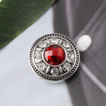 20MM round snaps with red faceted crystal KB7073 snaps jewelry
