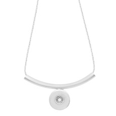 Pendant sliver Necklace with 45CM chain KC1063 snaps jewelry