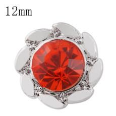 Diseño 12mm Broches de tamaño pequeño con diamantes de imitación rojos para joyas en trozos