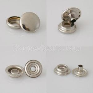1000 set / bag Verschluss Snap Metallknopf für Lederarmband 4pcs / set