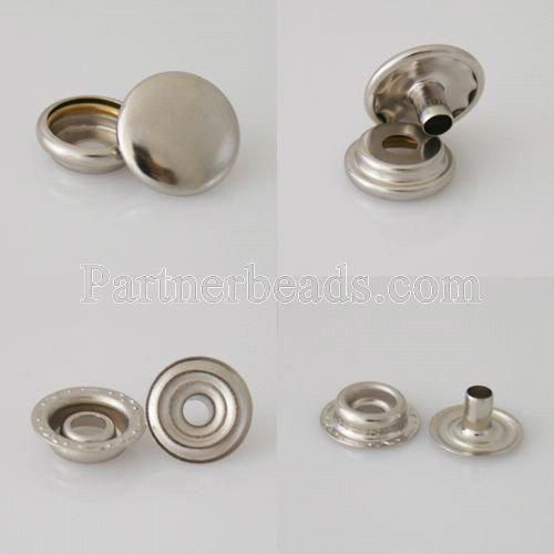 1000 set/bag Fastener Snap Metal Button for leather bracelet 4pcs/set