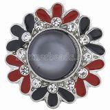 20MM ajusta trozos con ópalos negros y joyas intercambiables de diamantes de imitación