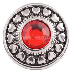 20MM snap Jul. Birthstone red KC5039 broches intercambiables joyería