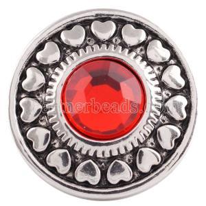 20MM оснастка Jul. Камень рождения красный KC5039 сменные защелки ювелирные изделия