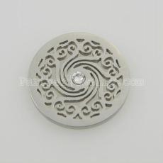 Les breloques en acier inoxydable 25MM conviennent à la taille de bijoux avec des cristaux