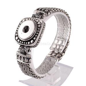 21CM 1 buttons snaps metal bracelet fit snaps chunks