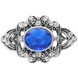 20MM design snap silver Plaqué de strass bleu KC6906 s'encliquette des bijoux