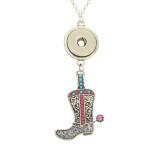 colgante de collar de bronce antiguo con cadena 60CM KC1059 broches de joyería
