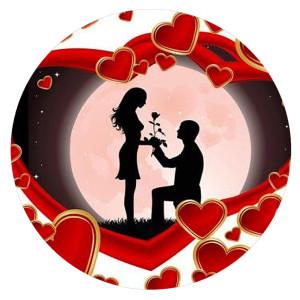 20MM Valentinstag Lackiertes Email Metall C5628 Druck schnappt Schmuck