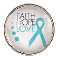 20MM snap glass Faith hope love KC2131 interchangable snaps jewelry