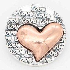20MM Snap Love or et ruban Plaqué avec KC6721 Snaps Bijoux