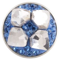 snaps button with blue rhinestone and resinestone KC2860 snaps jewelry