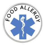 20MM Medical Alert Snap-Glas für Lebensmittelallergien C1120 Schmuck mit austauschbaren Snaps