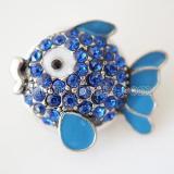 20mm ajusta trozos de metal con diamantes de imitación azul