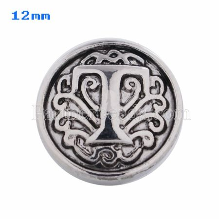 12mm T Antique snaps Silver Plated KS5022-S snap jewelry