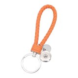 PU leather Keychain Keychain with button fit snaps chunks KC1207 Snaps Jewelry