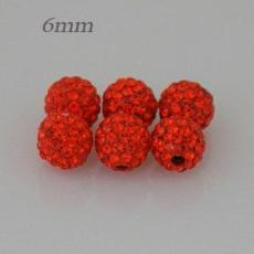 6mm Orange STELLUX Austrian crystal ball beads