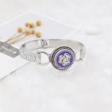 Astilla retro 20MM loveheart plateada con diamantes de imitación y esmalte púrpura KC7705 broches de joyería