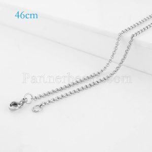 La cadena de moda de acero inoxidable 46CM se ajusta a todas las joyas plateadas FC9025