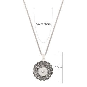 Colgante de collar con cadena 45CM en forma de trozos a presión 18mm