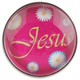 20MM snaps rose glass of Jesus love me C0556  rose-red