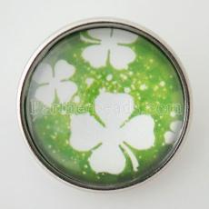20MM snap glass Clover  KB2885-N interchangable snaps jewelry