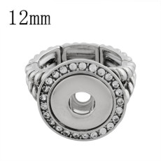 12MM snaps adjustable Ring with Rhinestone KS1159-S snaps jewelry