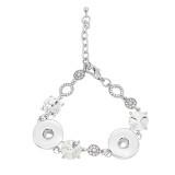 1 boutons avec strass snap slabl bracelet ajustable ajustement s'enclenche bijoux KC0818