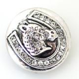 20MM Верховая оснастка Античное серебро с покрытием со стразами KB6462 оснастки ювелирные изделия