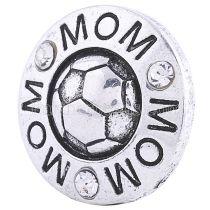 20MM Футбольная оснастка, посеребренная с белыми стразами KC6201 оснастка ювелирные изделия