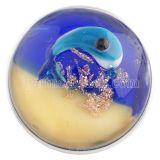 20mm оснастка из муранского синего стекла Snap Chunks-sealife