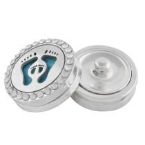 22mm pied blanc en alliage Aromatherapy / Diffuseur d'huile essentielle Parfum Médaillon à pression avec disques 1pc 15mm en cadeau