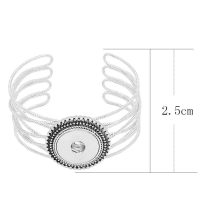 1 buttons snap sliver bracelet fit 20MM snaps jewelry KC0853