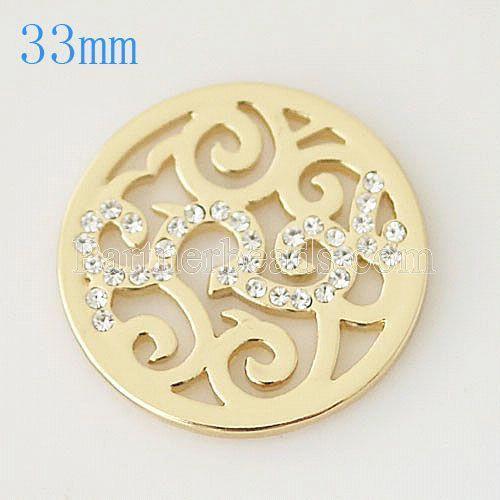 33 mm Alliage Coin fit Médaillon bijoux type028
