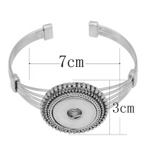 1 buttons snap sliver bracelet fit 20MM snaps jewelry KC0864