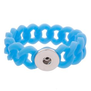 1 Button Silikon Stretch Armband
