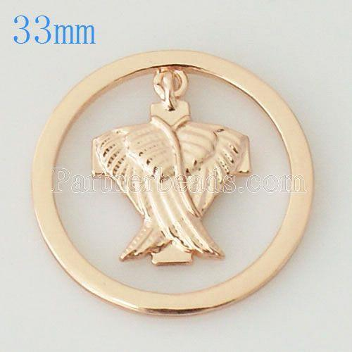33 mm Alloy Coin fit Locket jewelry type006