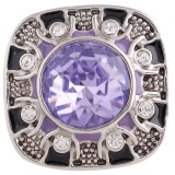 20MM дизайн оснастки серебро Антиквариат с фиолетовым стразами KC5438 оснастки ювелирные изделия