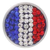 Broches de azúcar 18mm Aleación con diamantes de imitación Joyas de broches KB2409-AD