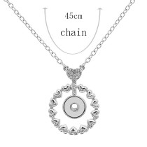 Pendant Necklace with 45CM chain KS1247-S fit 12MM chunks snaps jewelry