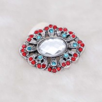 20MM design snap silver Plated with rhinestone KC6935 snaps jewelry multicolor