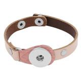 1-Knöpfe Rosa Armbänder vom Typ KC0274 aus echtem Leder passen zu 20MM-Druckknöpfen