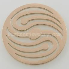Los encantos de monedas de acero inoxidable 33MM se ajustan a la onda del tamaño de la joyería