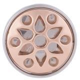 20MM Полые защелки серебро и розовое золото KB5128 защелкиваются ювелирные изделия