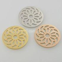 Los encantos de monedas de acero inoxidable 33MM se ajustan al tamaño de la joyería bloom