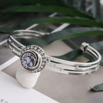 Diseño 12MM broche de presión plateado con diamantes de imitación de color púrpura claro y esmalte KS6270-S joyería de broches intercambiables