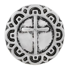 20MM cross snap Silver Plated  KC7622 snap jewelry