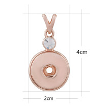 bouton-pression pendentif en or rose avec ajustement strass 20MM encliquetement bijoux de style KC0388