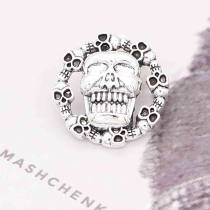 20MM Skull snap Silver Plated KC6854 snaps jewelry