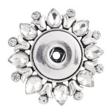 1 snaps button interchange brooch plating Antique sliver with Rhinestones KC1175 snaps jewelry
